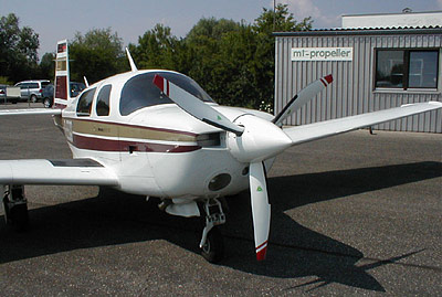 Mooney M20J with 3-blade MTV-12 / new scimitar blades