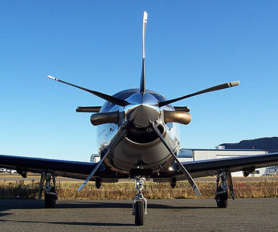 Pilatus PC-12 with 5-blade MTV-27
