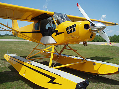 Piper PA18 Super Cub with MTV-15 reverse propeller